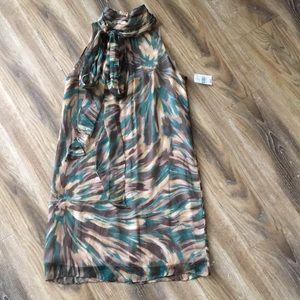 Milly of New York Sleeveless High Neck Dress NWT